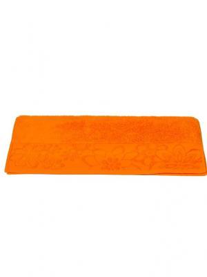 Махровое полотенце 70x140 DORA оранжевое,100% хлопок HOBBY HOME COLLECTION. Цвет: оранжевый