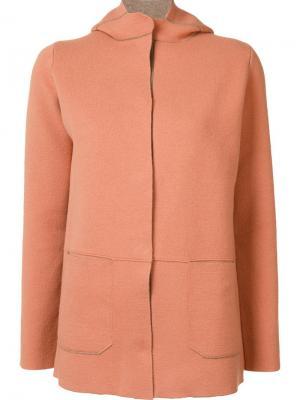 Куртка с капюшоном Cividini. Цвет: жёлтый и оранжевый