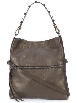 Классическая сумка на плечо Henry Beguelin. Цвет: коричневый