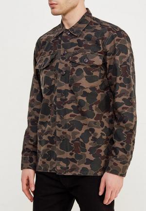 Рубашка джинсовая Levis® Levi's®. Цвет: хаки