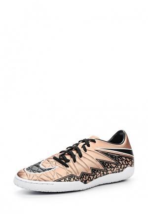 Бутсы зальные Nike. Цвет: золотой