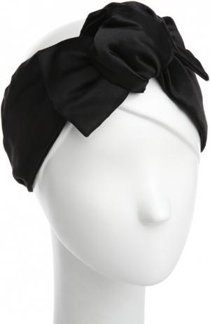 Атласная повязка Jennifer Behr. Цвет: черный