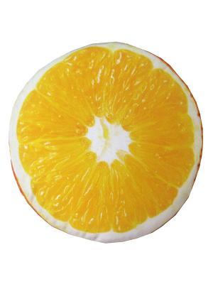 Сидушка декоративная на табурет D32, принт Апельсин Dorothy's Нome. Цвет: оранжевый