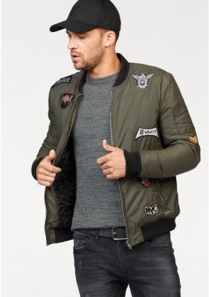 Куртка-бомбер Maze. Цвет: оливково-зеленый