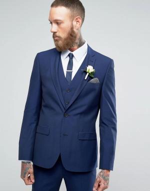Harry Brown Однотонный пиджак. Цвет: синий