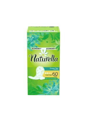 Ежедневные гигиенические прокладки на каждый день Green Tea Magic Normal Trio, 60шт. NATURELLA. Цвет: салатовый