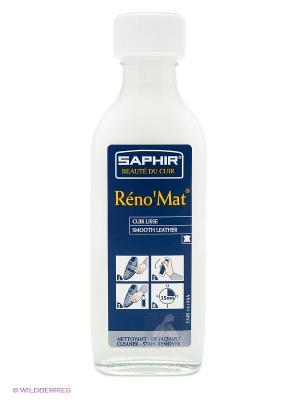 Очиститель для гладких кож RENO Mat флакон, 100мл. Saphir. Цвет: темно-синий