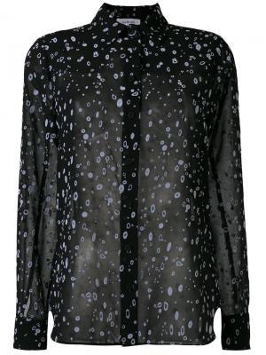 Полупрозрачная рубашка с принтом Carven. Цвет: чёрный