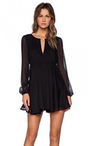 Платье lana Lovers + Friends. Цвет: черный