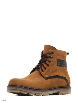 Ботинки зимние мужские. натуральнвя кожа ZET. Цвет: светло-коричневый