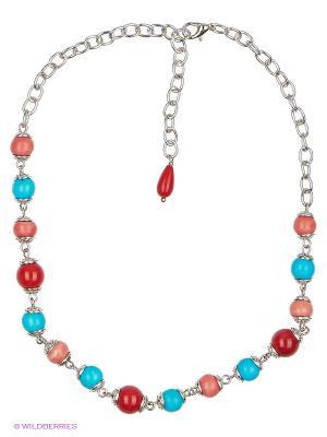 Браслет Polina Selezneva. Цвет: голубой, красный, коралловый