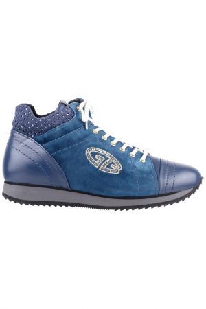 Кроссовки Gianfranco Butteri. Цвет: синий