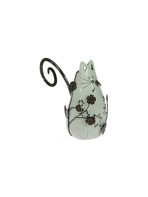 Статуэтка Кошка Русские подарки. Цвет: серый
