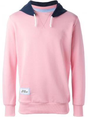 Толстовка с контрастным капюшоном Lc23. Цвет: розовый и фиолетовый