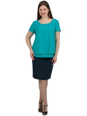 Блузка Regina Style. Цвет: серо-зеленый