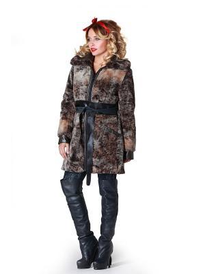 Меховое пальто Artwizard. Цвет: коричневый