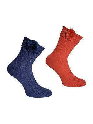 Носки 2 пары Master Socks. Цвет: темно-синий, терракотовый