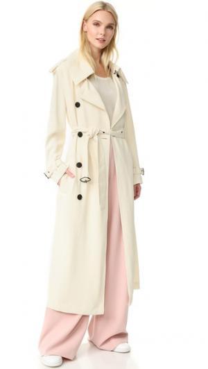 Пальто-тренч Lucie Acne Studios. Цвет: белая слоновая кость