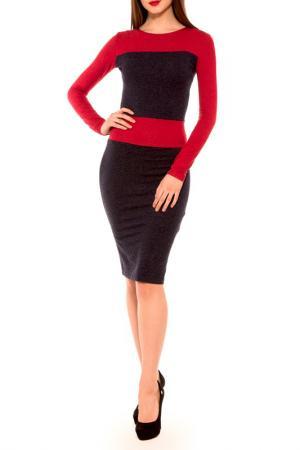 Платье Majaly. Цвет: синий, красный