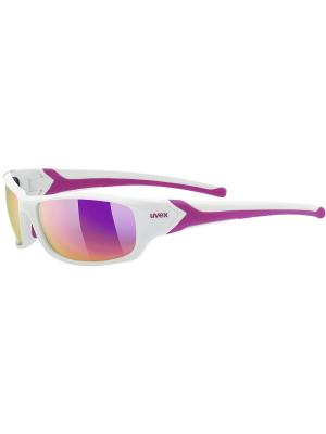 Солнцезащитные очки Uvex. Цвет: белый, розовый