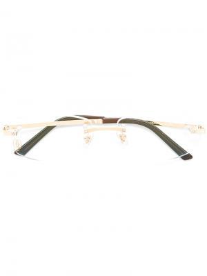 Оптические очки Santos de Cartier. Цвет: металлический