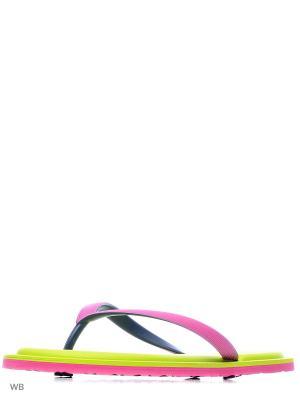 Шлепанцы Noos Icon. Цвет: зеленый, розовый, черный