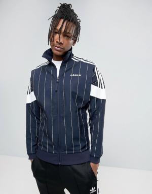 Adidas Originals Темно-синяя спортивная куртка в полоску Tokyo Pack BK. Цвет: темно-синий