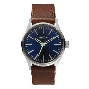 Часы  Sentry 38 Leather Blue/Brown Nixon. Цвет: коричневый,серый,синий