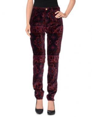 Повседневные брюки MONOCROM. Цвет: баклажанный