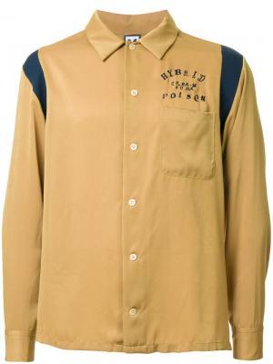 Рубашка с вышивкой Myne. Цвет: жёлтый и оранжевый