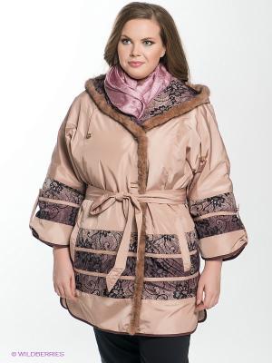 Куртка Sinta Via. Цвет: бежевый, коричневый