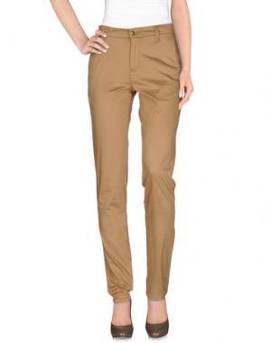 Повседневные брюки MONKEE GENES. Цвет: верблюжий