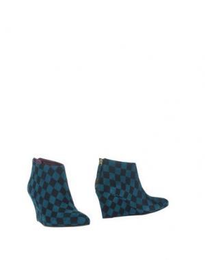 Полусапоги и высокие ботинки AVRIL GAU. Цвет: цвет морской волны