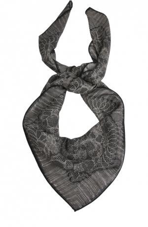 Шелковый платок Michele Binda. Цвет: черный