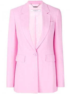 Классический пиджак с заостренными лацканами Givenchy. Цвет: розовый и фиолетовый