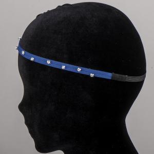 Ободок-резинка для волос, арт. 08 625 Бусики-Колечки. Цвет: синий