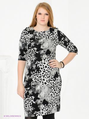 Платье Magnolica. Цвет: черный, темно-серый, светло-серый