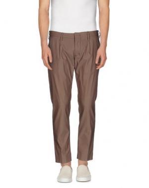 Повседневные брюки ENTRE AMIS. Цвет: светло-коричневый