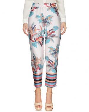 Повседневные брюки SOUVENIR. Цвет: светло-розовый