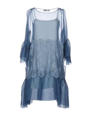 Платье до колена ANIYE BY. Цвет: грифельно-синий