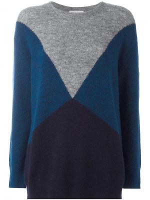 Джемпер дизайна колор-блок Tsumori Chisato. Цвет: синий