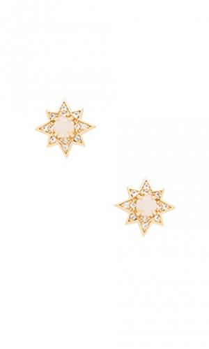 Серьги starburst stud Melanie Auld. Цвет: металлический золотой
