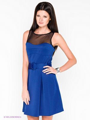 Платье COMPAGNIA ITALIANA. Цвет: синий