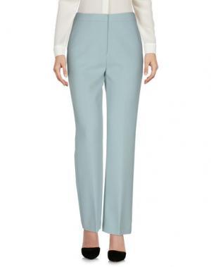 Повседневные брюки SELF-PORTRAIT. Цвет: небесно-голубой
