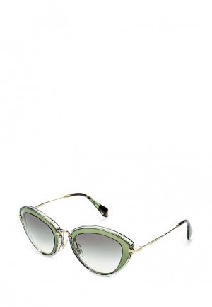 Очки солнцезащитные Miu. Цвет: зеленый