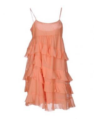 Короткое платье FABRIZIO LENZI. Цвет: оранжевый