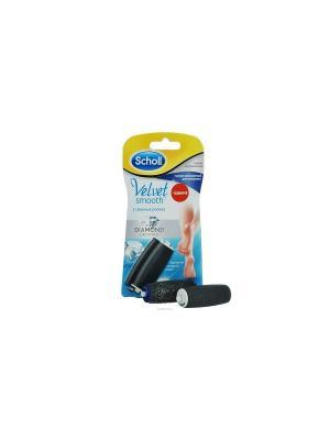 Сменные роликовые насадки 1 экстражесткий ролик + для полировки. SCHOLL. Цвет: черный