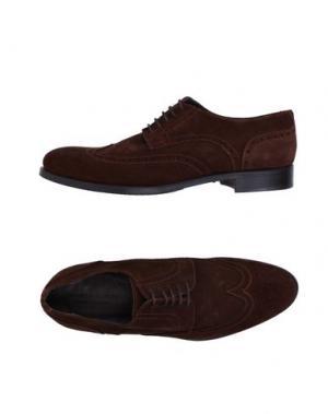 Обувь на шнурках DANIELA FARGION. Цвет: какао