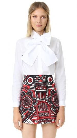 Рубашка на пуговицах Holly Fulton. Цвет: белый