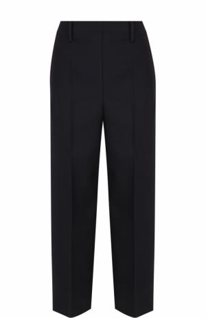 Укороченные шерстяные брюки со стрелками Christophe Lemaire. Цвет: темно-синий